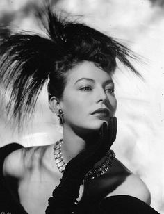 I just loved her -  how elegant, and beautiful. Ava Gardner, 1940s