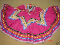 Girl Mexican ballet Folklorico Dress Jalisco 6 7 NEW