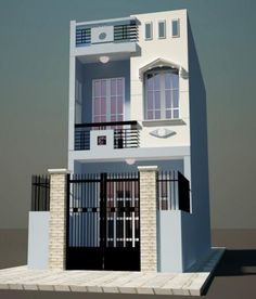 Narrow House Designs, Modern Small House Design, Minimalist House Design, House Outside Design, House Front Design, Architect Design House, Indian House Plans, Indian Home Design, Small House Floor Plans