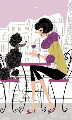 The Poodle Patch — Vintage Poodle and Paris! Tea Cup Poodle, Pink Poodle, French Poodles, Standard Poodles, Poodle Cuts, Thinking Day, Oui Oui, Dog Art, Betta