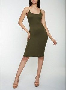 Cami Bodycon Dress in Olive Size: Medium . . Shop for cute dresses, find discounts, coupon codes, promo on dresses! #cheapdresses #fashiondiscount #cutedress #dresses #outfits Cheap Dresses, Cute Dresses, Beautiful Dresses, Dresses For Work, Plus Size Bodycon, New Mode, Mode Blog, Discount Clothing, Mid Length Dresses