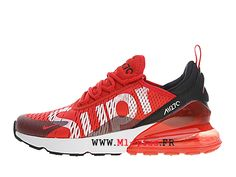 wholesale dealer a5ecb b1b40 Off White x Nike Air Max 270 Flyknit Officiel Chaussures de course Prix Pas  Cher Homme