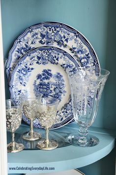 Blue & White China and keeping a good attitude when your plans unexpectedly change! | Celebrating everyday life with Jennifer Carroll