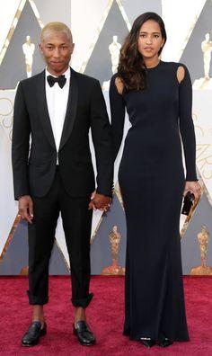 Pharrell Williams and Helen Lasichanh - Oscars 2016