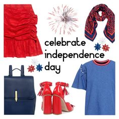"""""""CELEBRATE INDEPENDENCE DAY"""" by ifchic ❤ liked on Polyvore featuring Mother of Pearl, Karen Walker, SUNO New York, fourthofjuly, contestentry and ifchic"""