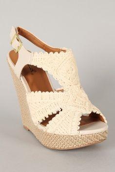 Resultado de imagen para zapatillas de plataforma tejidas a crochet