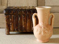 Antique U.S.A. Pottery Vase Petite Peachy Vase by VandyleeVintage