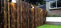 clôture en bambou jardin ville idée