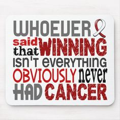Shop Whoever Said Head And Neck Cancer Mouse Pad created by awarenessquotes.