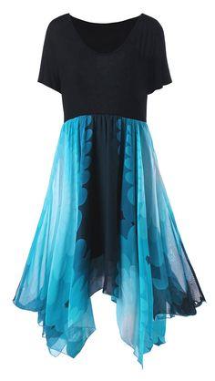 High Waist Handkerchief Dress