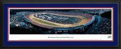 NASCAR Tracks - Richmond Intl Raceway Aerial - Night - Framed Poster Print by Laminated Visuals. $189.95. This aerial panorama of Richmond International Raceway, one of the most historic tracks in racing, was taken during a sold out NASCAR Nextel Cup Series race. Racing at the facility began in 1946 and today, the track hosts two sold out NASCAR Nextel Cup races each season in front of more than 100,000 fans. It is one of the most popular racing facilities among f...