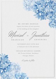 Timeless Romance Invitation in Orange Elegant Wedding Invitations, Wedding Invitation Cards, Wedding Cards, Invitation Fonts, Floral Invitation, Sapphire Wedding, Blue Wedding, Molduras Vintage, Wedding Story