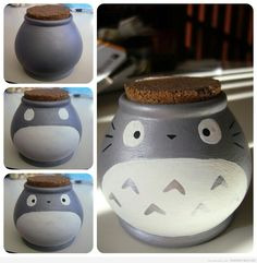 DIY totoro jar You could easily make others too. Kirby or Yoshi egg come to mind.