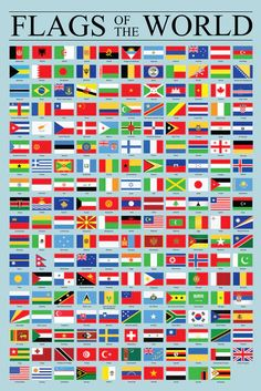 Flags of the World Classroom Reference Chart National Countries Symbol Cool Wall Decor Art Print Poster - Poster Foundry World Flags With Names, All World Flags, General Knowledge Book, Gernal Knowledge, World Map Picture, Hidden Picture Puzzles, Countries And Flags, Cool Wall Decor, Measurement Activities