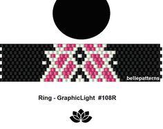 peyote ring pattern,PDF-Download, #108R, beading pattern, beading tutorials, ring pattern Beading Tutorials, Beading Patterns, Pony Bead Crafts, Peyote Stitch Patterns, Ring Tutorial, Beaded Rings, Loom Beading, Bead Weaving, Necklaces