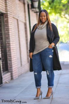 Duster Coat Outfit details in TrendyCurvy.com ... | Trendy Curvy | Plus Size Fashion & Style Blog