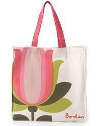 Canvas Shopper (Pink Lemonade Tulip)
