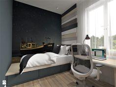 Warszawa, projekt modernizacji mieszkania w kamienicy - Pokój dziecka, styl nowoczesny - zdjęcie od Inside Outside Design
