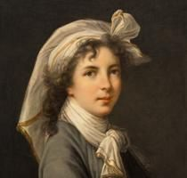 Charles Bianchini, Portrait of Vigée-LeBrun (after Vigée-LeBrun's 1789 self-portrait), n.d.; Oil on canvas, 24 1/2 x 19 1/2 in.; NMWA, Gift of Wallace and Wilhelmina Holladay; Photo by Lee Stalsworth