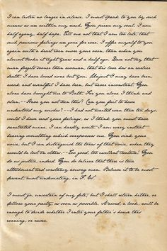 Captain Wentworth's Letter; Persuasion, by Jane Austen