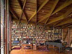 MAYBE this could hold all our books    killer ceiling!!!