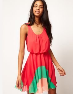 Love Color Block Hem Dress  $72.72 (cute & flirty)
