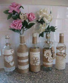 13 ideas ms creativas para decorar botellas y frascos de vidrio