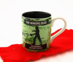 The Walking Dead-personalized mug-zombie lover home by LennyMud