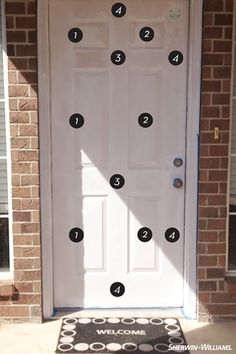 @designcrush gives a step-by-step solution to make your front door stand out.