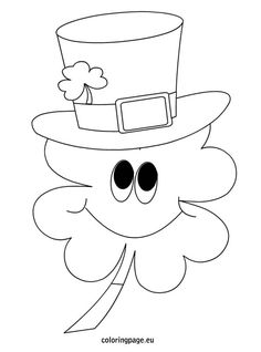 clover black and white St Patricks Day Crafts For Kids, Valentine Crafts For Kids, St Patrick's Day Crafts, Rock Crafts, Applique Patterns, Craft Patterns, Coloring Sheets, Coloring Pages, St Patricks Day Clipart