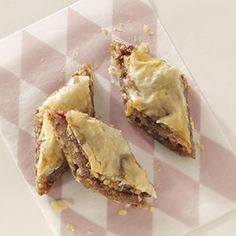 Buttery Rhubarb Baklava Recipe from Taste of Home -- shared by Sue Bolsinger of Anchorage, Alaska
