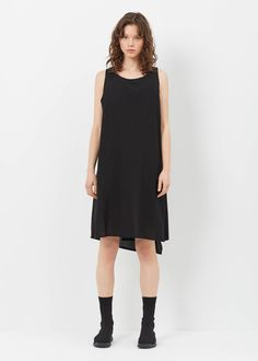Yohji Yamamoto Back Drape Dress (Black)