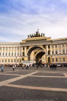Palace Square. Opposite the Hermitage. Saint Petersburg, Russia.