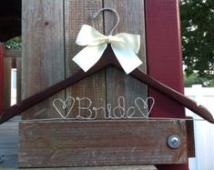 Personalized Wedding Hanger / Brides by Hangingmoments on Etsy