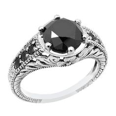 Jewelry Point - 2.2 Carat Black Diamond Bridal Matching Engagement Ring Set, $1,095.00 (http://www.jewelrypoint.com/2-2-carat-black-diamond-bridal-matching-engagement-ring-set/)