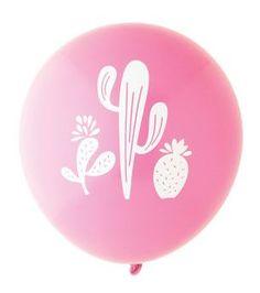 Cactus Balloon: Hot Pink/White