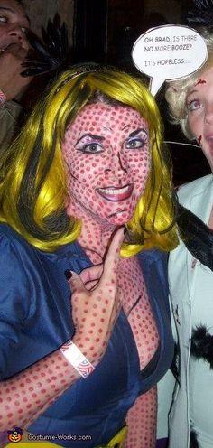 So awesome. my next party costume. Lichtenstein Pop Art Lady!