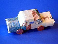 Geldgeschenk für Auto oder Führerschein   Basteln & Gestalten