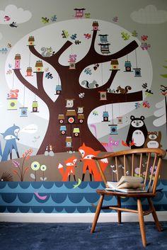 Kinderkamer #behang | Isak wallpaper- beautiful happy things
