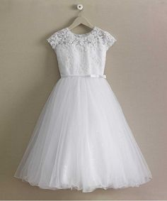 """""""Shop Chasing Fireflies for our Girls Sequin Shimmer Dress. Browse our online catalog for the best in unique children's costumes, clothing and more. White Communion Dress, White Baptism Dress, Girls Baptism Dress, Girls First Communion Dresses, Holy Communion Dresses, First Holy Communion, Special Dresses, Girls Special Occasion Dresses, Dress First"""