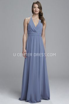 a922ddf0c7d Sheath V-Neck Floor-Length Ruched Sleeveless Chiffon Bridesmaid Dress