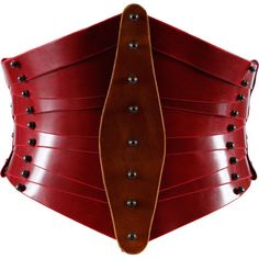 This oxblood leather waist-cincher is a thing of beauty, truly. Real Leather Belt, Leather Corset, Leather Belts, Red Leather, Black Corset, Vintage Leather, Steampunk Corset, Steampunk Fashion, Gothic Fashion