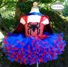 Spiderman Inspired Tutu Dress Spider Girl by CarrionByDesign