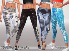 The Sims Resource: Athletic Pants Collection 011 by Pinkzombiecupcakes • Sims 4 Downloads