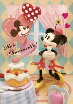 sisa 3Dポストカード ロマンティックミニー S3586 ミッキー&ミニーマウス ディスニー