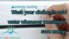 Wash your clothes in cold water whenever possible to save energy. Energy Saving Tips, Save Energy, Personal Care, Cold, Water, Shopping, Clothes, Water Water, Aqua