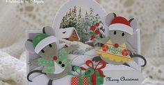 Marianne Design Collectables Eline's Mäusefamilie, Metall, Rosa, 21 x 15 x cm Diy Christmas Cards, Holiday Cards, Christmas Crafts, Marianne Design Cards, Rena, Cricut Cards, Pop Up Cards, Winter Cards, Kids Cards