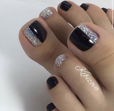 Purple Toe Nails, Pretty Toe Nails, Cute Toe Nails, Toe Nail Color, Summer Toe Nails, Pretty Nail Art, Fancy Nails, Gorgeous Nails, Feet Nail Design