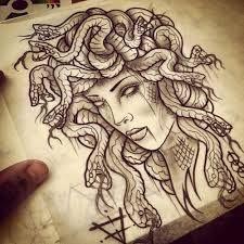 Awesome grey-ink medusa gorgona with stoned eyes tattoo design Tatuajes Tattoos, Leg Tattoos, Body Art Tattoos, Sleeve Tattoos, Tattos, Tattoo Thigh, Medusa Tattoo Design, Tattoo Designs, 16 Tattoo