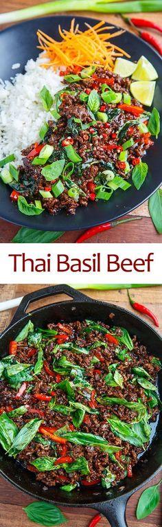 Thai Basil Beef #thaifoodrecipes